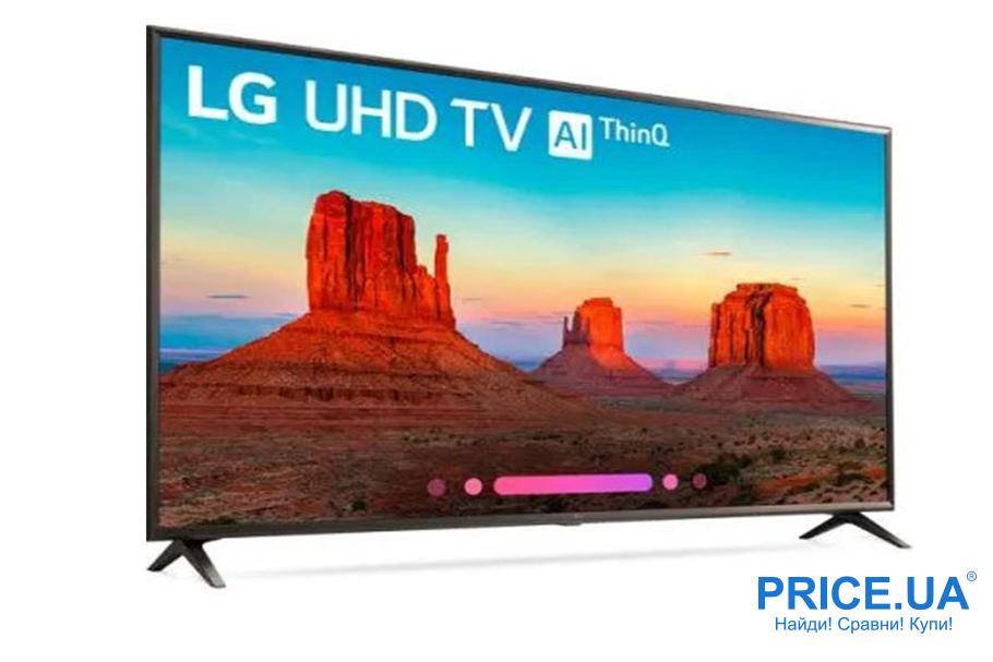 Популярные телевизоры по версии Price.ua: топ-10. LG 65UK6100-PLA