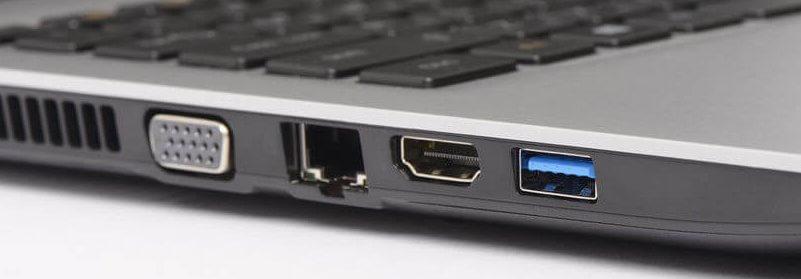 VGA, LAN, HDMI и USB На ноутбуке
