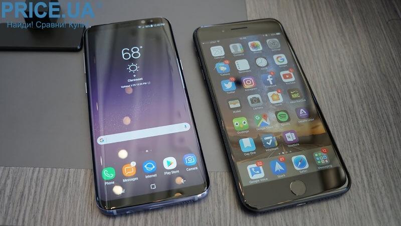 s8 plus vs iPhone 7 Plus