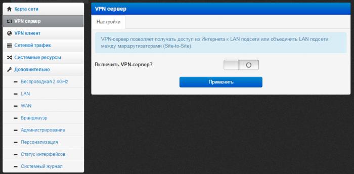 OpenVPN сервер на роутере