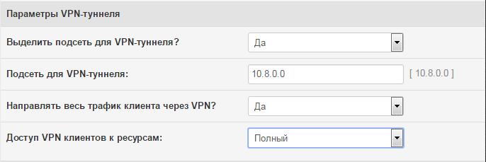 VPN тоннеля на роутере