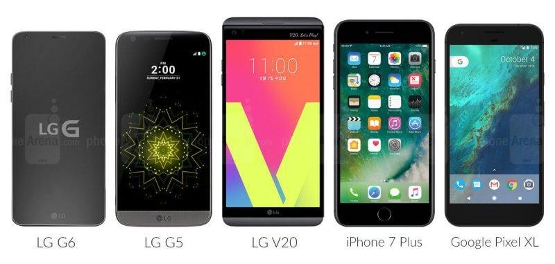 LG G6 с конкурентами