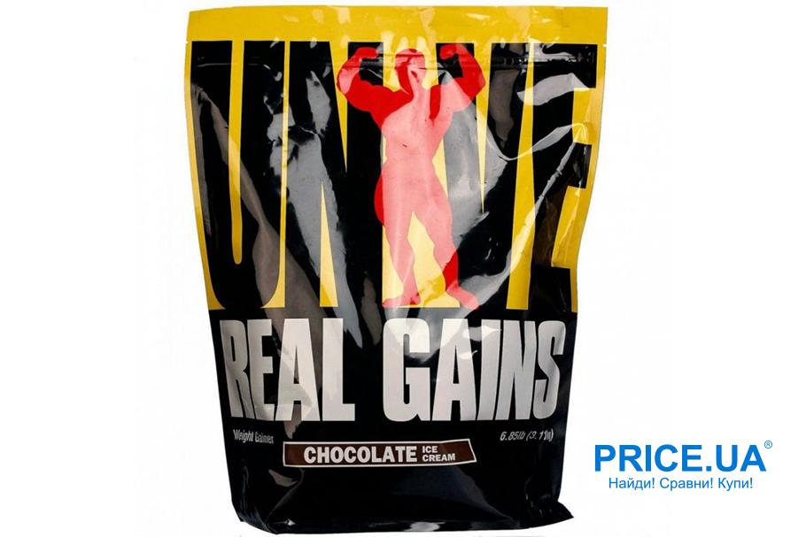 Топ-5 лучших гейнеров. Real Gains Universal Nutrition