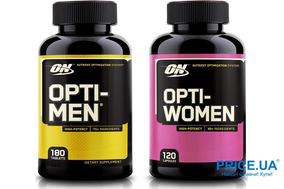 Какие виатмины лучше пить спортсменам? Opti-Men и Opti-Women