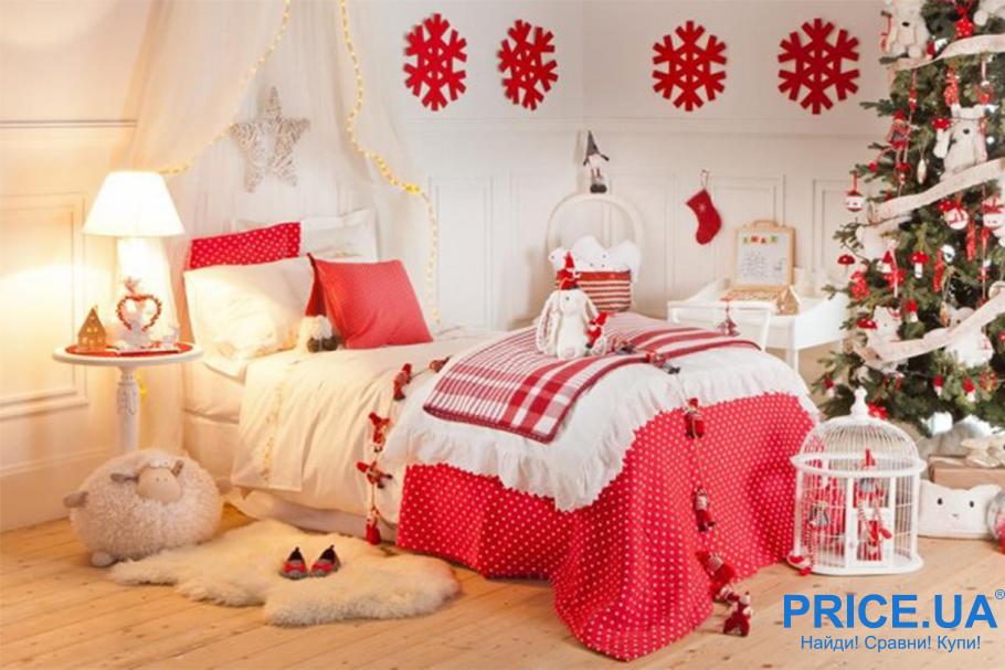 Украшаем жилище к Новому году:  элементы новогоднего декора в детской