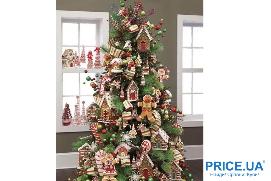 Идеи декора новогодней елки. В стиле кантри