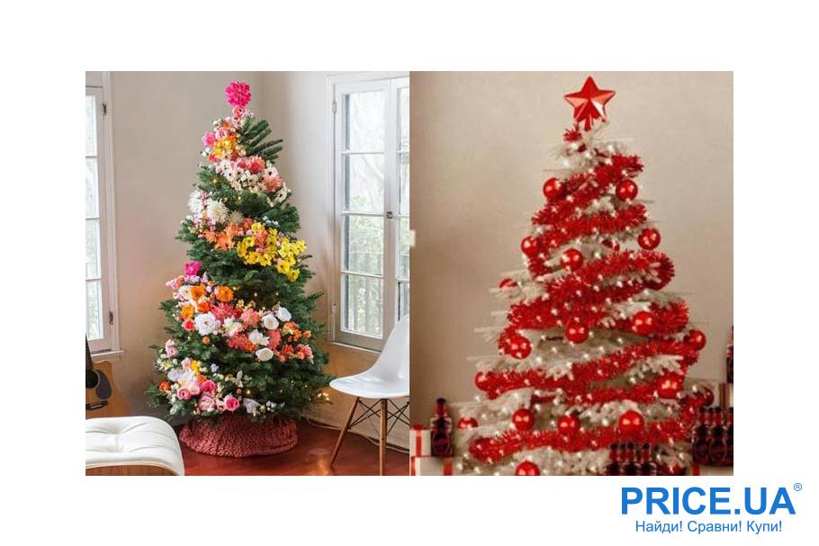 Идеи декора новогодней елки.Декор по спирали