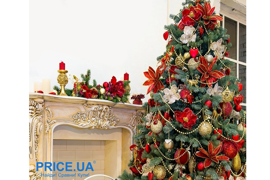 Идеи декора новогодней елки. Красные акценты