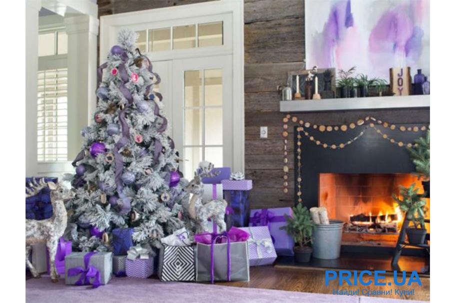 Идеи декора новогодней елки. Лавандовая