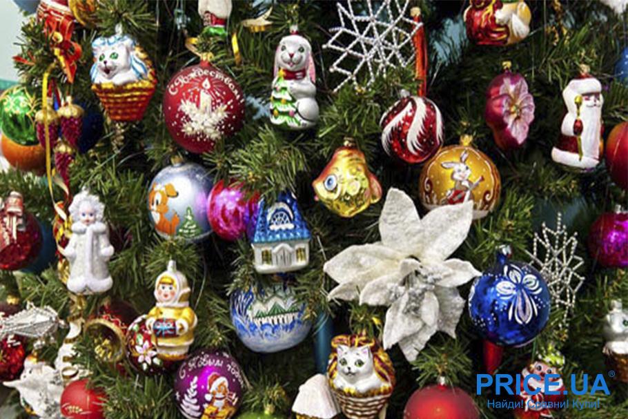 Идеи декора новогодней елки. Винтажная