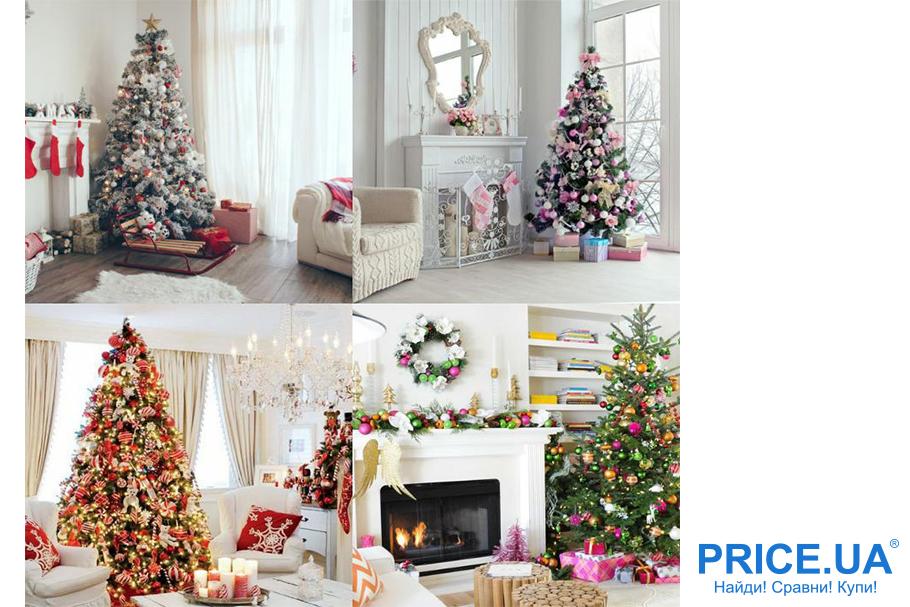 Украшаем жилище к Новому году: елка в гостиной