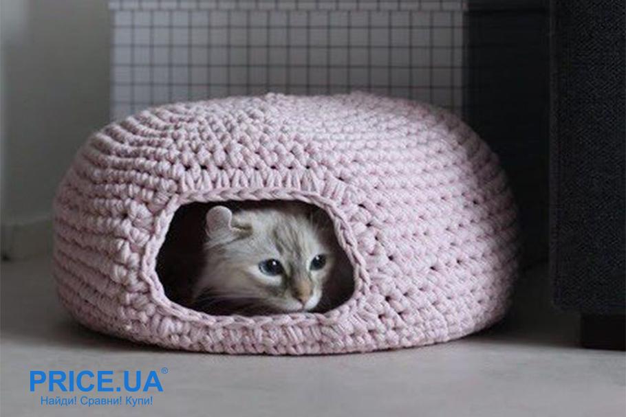 Как сделать лежак для кошки. Выбор формы