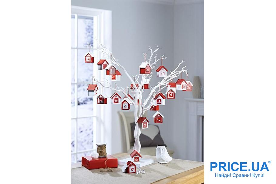 Идеи декора  офиса к новогодним празникам. Декорируем веточки-дерево