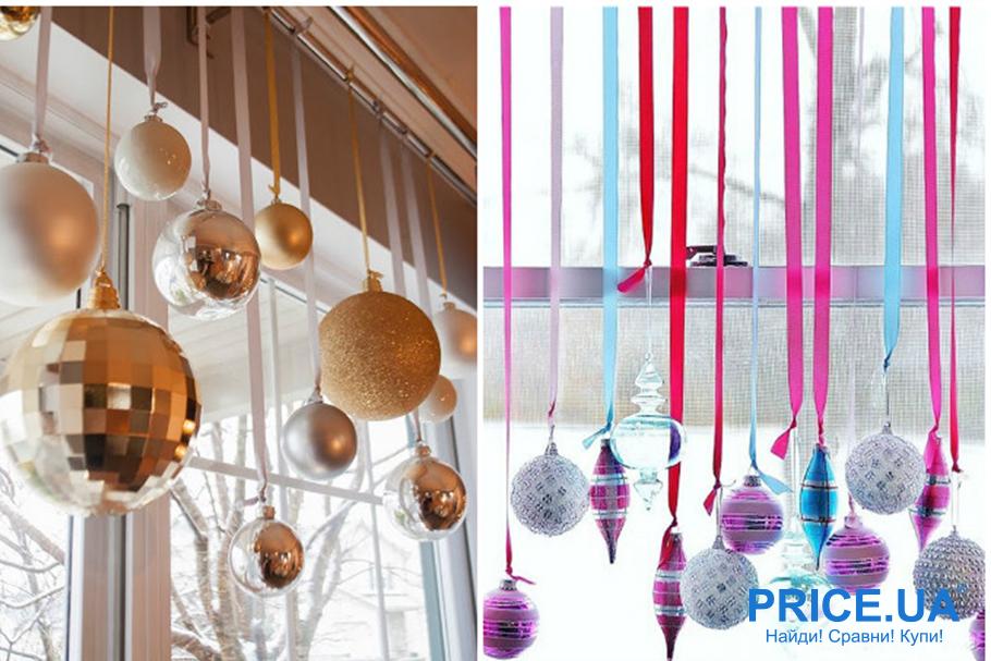 Идеи декора  офиса к новогодним празникам. Декор из шариков