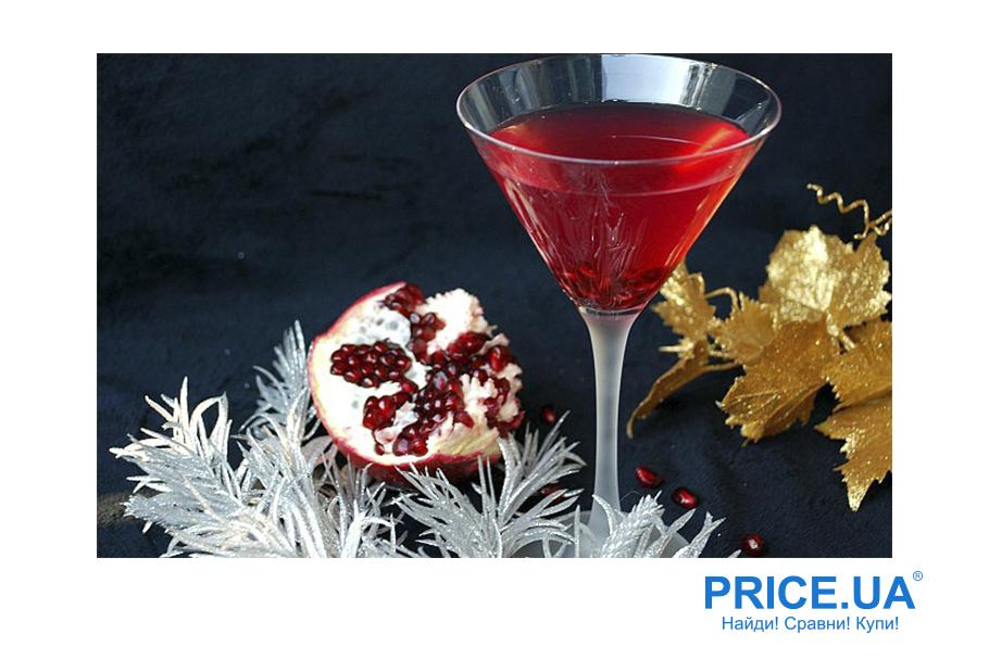 Самые классные коктейли на Новый год. Гранатовый мартини