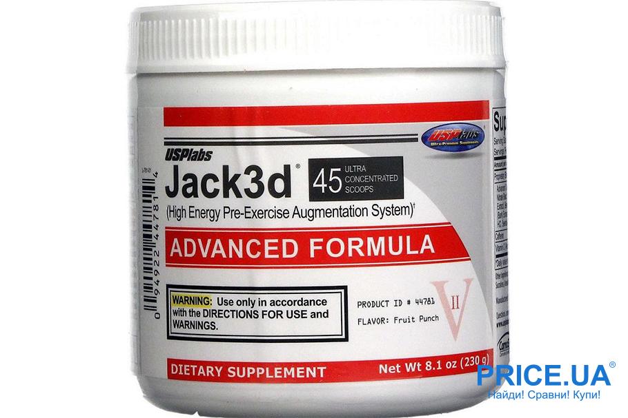 Выбираем предтренировочные комплексы: Jack3d от USPlabs