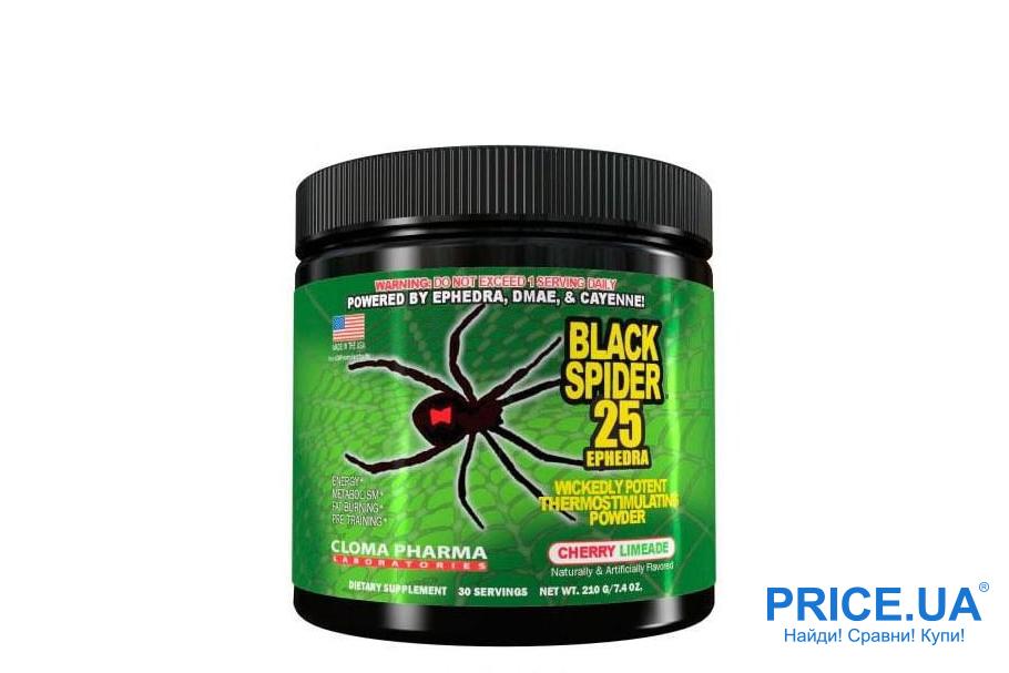 Выбираем предтренировочные комплексы: Black Spider Powder от Cloma Pharma