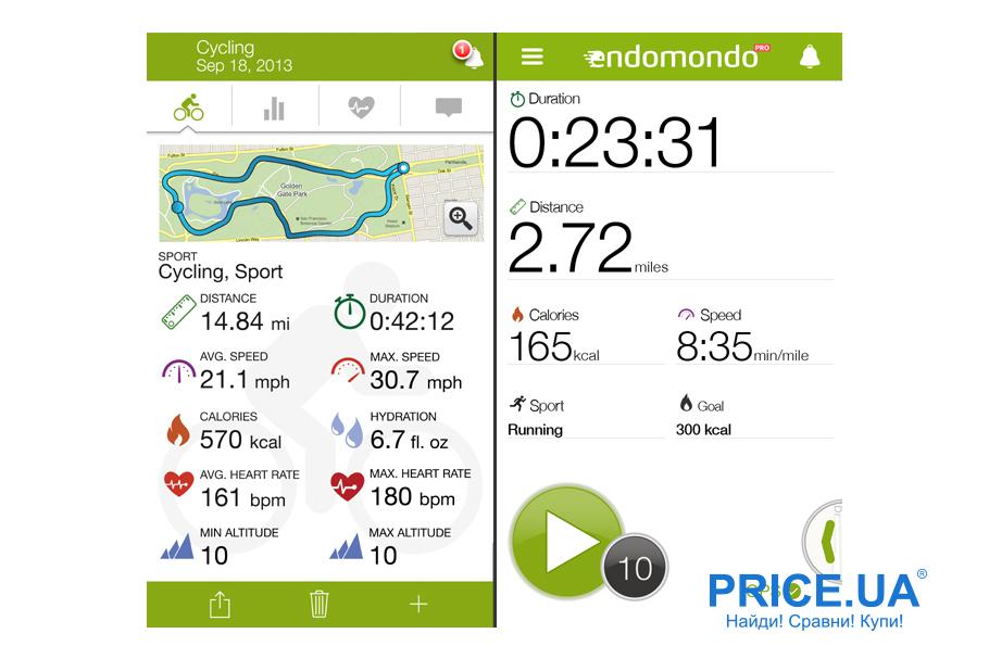 Смарт-приложения для здорового образа жизни. Endomondo R