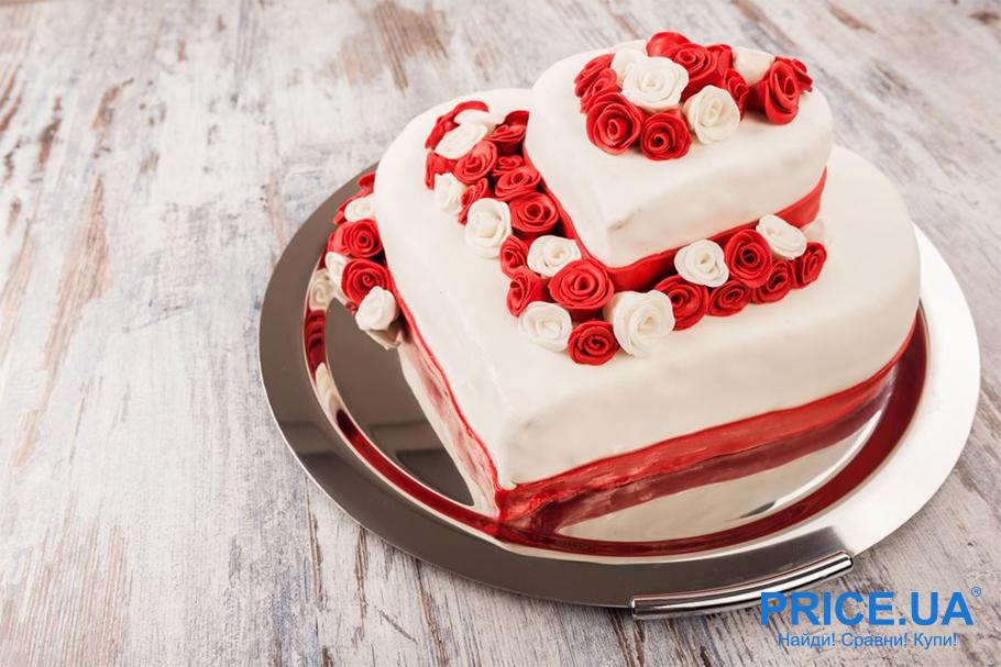 Признания на день святого Валентина: несколько идей. Торт