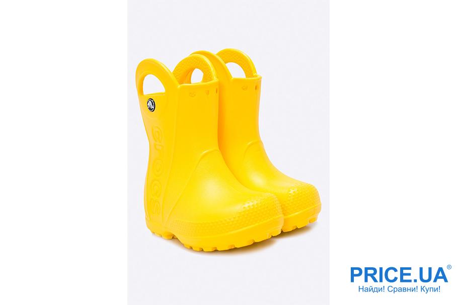 Лучшие резиновые сапожки для детей: топ-7 моделей. CROCS-HANDLE RAIN