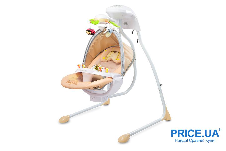 Как выбрать шезлонг-укачиватель для младенца?  Caretero Buggies