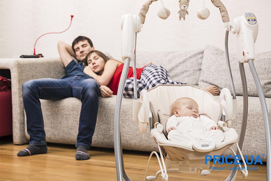 Как выбрать шезлонг-укачиватель для младенца?  Основные моменты