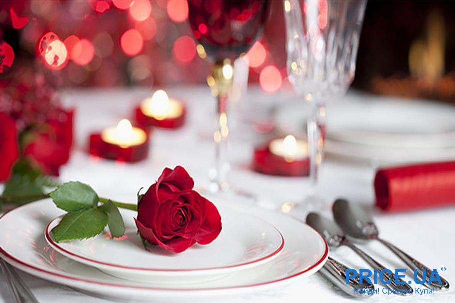 Романтическая атмосфера на день всех Влюбленных: особая сервировка