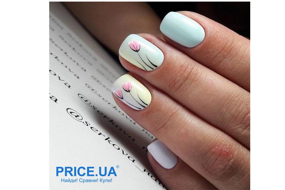 Весенний дизайн ногтей: что в топе? Цветочный минимализм