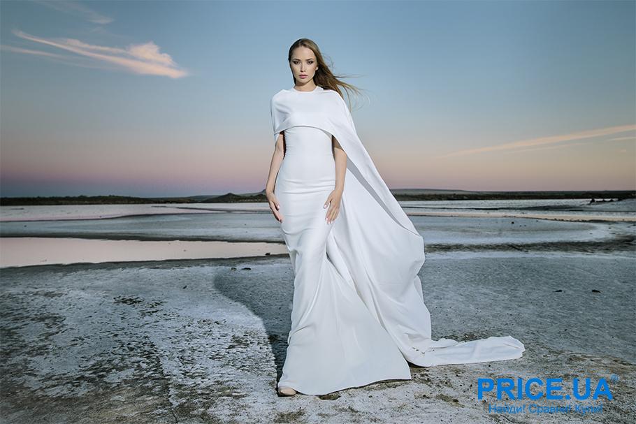 Свадебная мода 2019: тренды. Платье с мантией