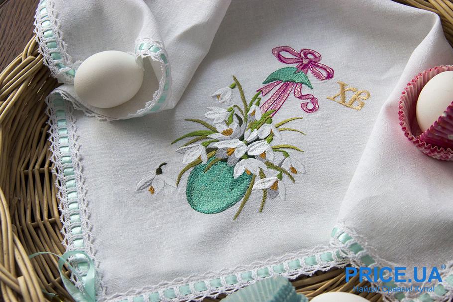 Пасха. Как украсить дом к празднику? Вышивки на скатерти и салфетках