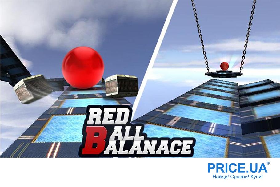 Десятка лучших игр с Плеймаркета - бесплатных! Red ball balance
