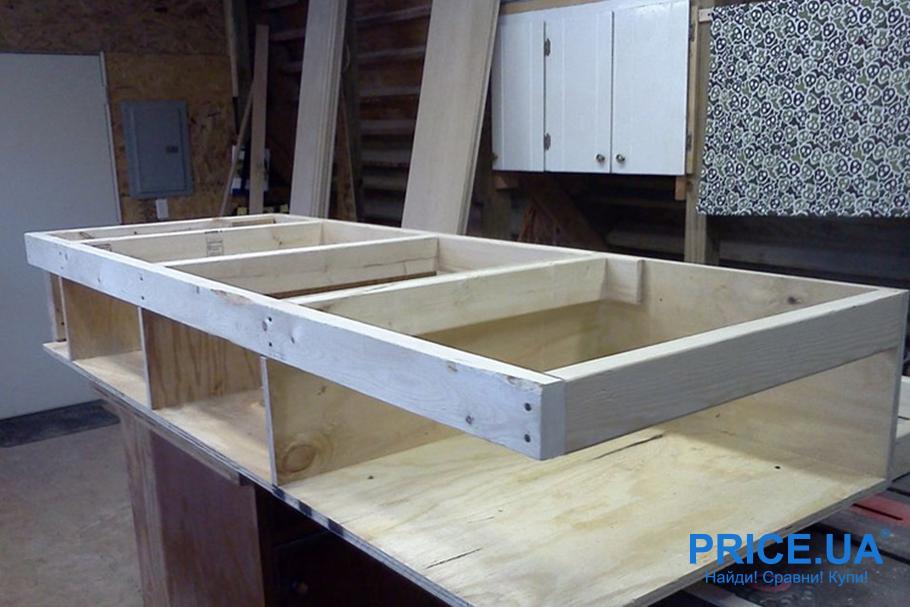 Кровать-подиум: как сделать собственными силами?  Грамотный проект и мерки