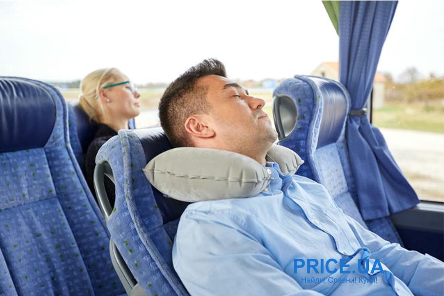 Безопасно путешествовать автобусом: советы. Подушка для сна
