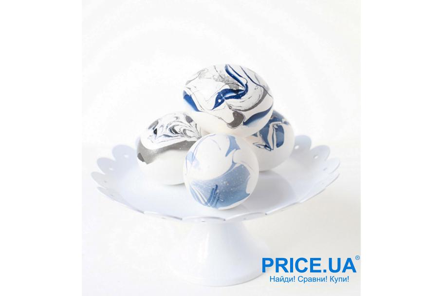 Яйца на Пасху: креативный декор. Мраморные разводы