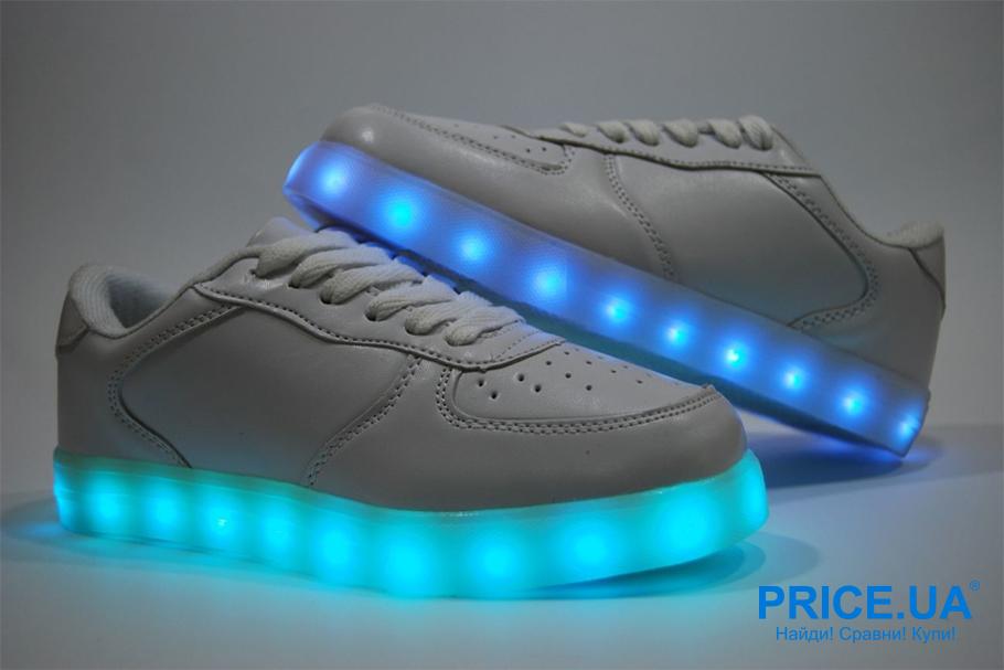 Интересные и необычные подарки для ребенка.  Обувь со светящейся подошвой