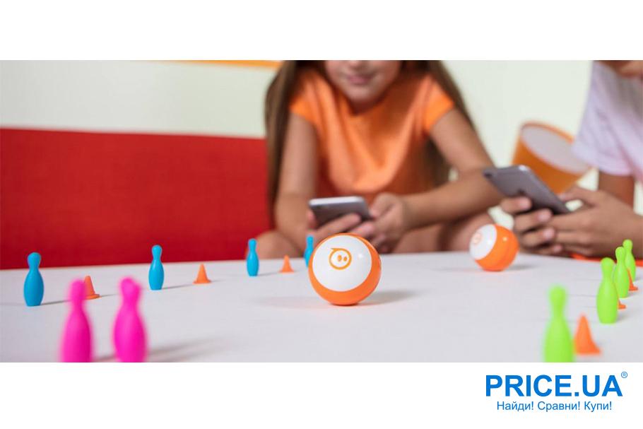 Интересные и необычные подарки для ребенка. Роботизированный шар Sphero Mini Orange