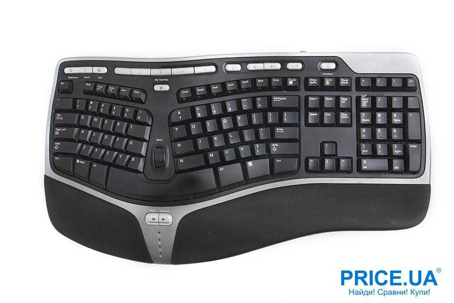 Главные отличия эргономичной клавиатуры от обычной.