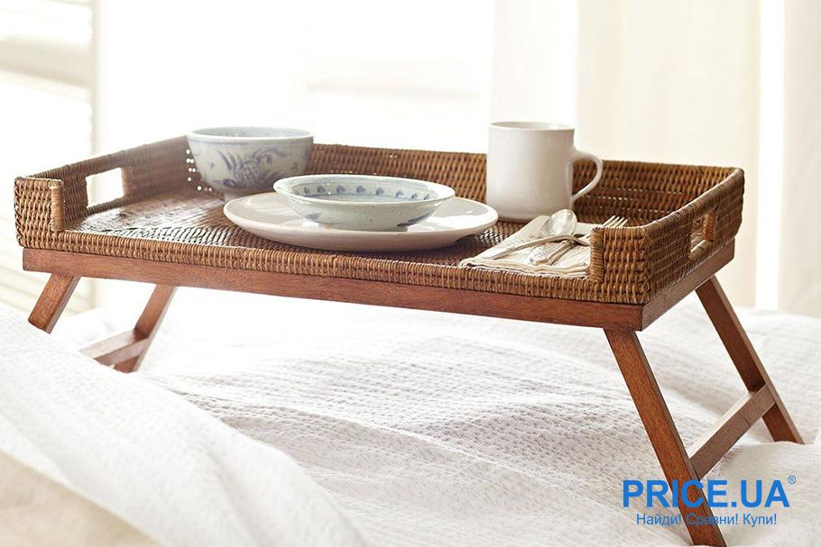 Как сделать столик для завтраков собственными силами? Выбор материала