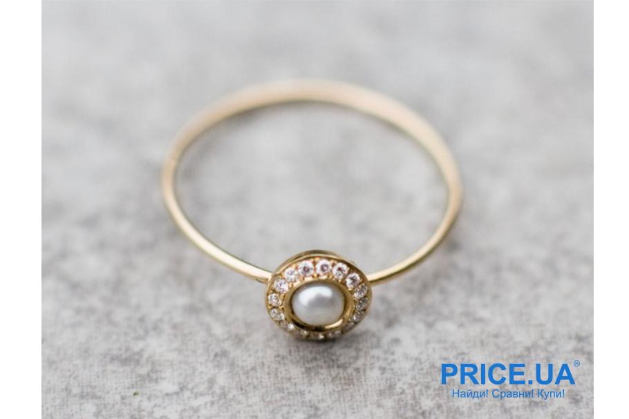 Кольца на свадьбу: тренды свадебной моды 2019. Бриллиант и жемчуг