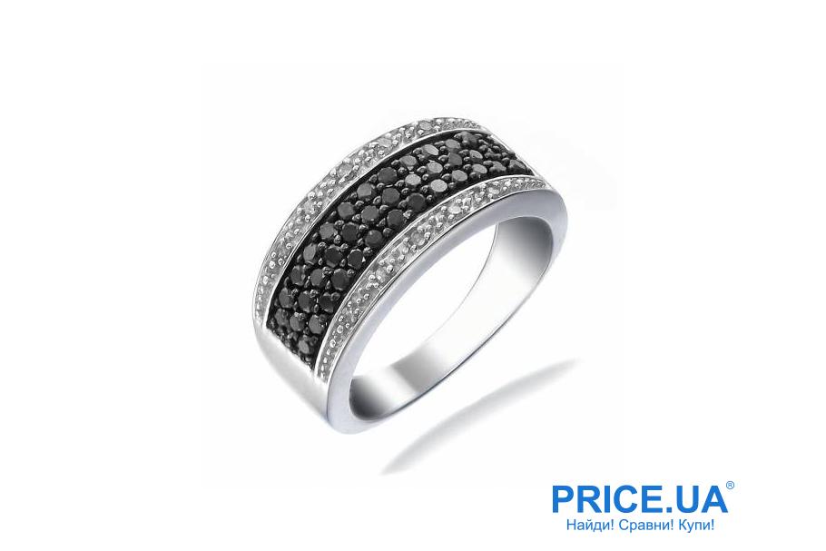 Кольца на свадьбу: тренды свадебной моды 2019. Кольца с черными камнями