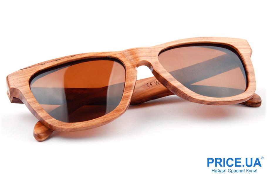Модные тренды мужских солнцезащитных очков. Деревянная оправа