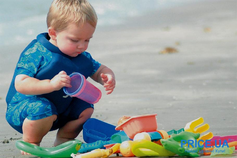 На море с ребенком: список важный вещей.  Игрушки