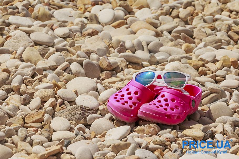 На море с ребенком: список важный вещей.  Специальная обувь