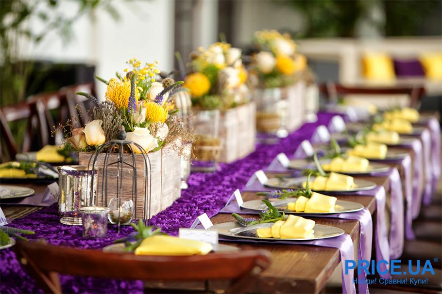 Цвета в свадьбе: банкетный зал участвует