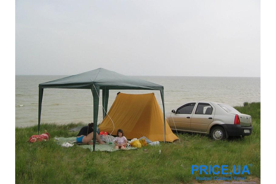 """Отдых в палатке: самые классные места для """"дикарей"""". Сасыкская пересыпь"""