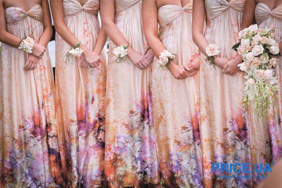 Подготовка к свадьбе: какой наряд выбрать подружкам невесты? Пестрый или моноцвет?