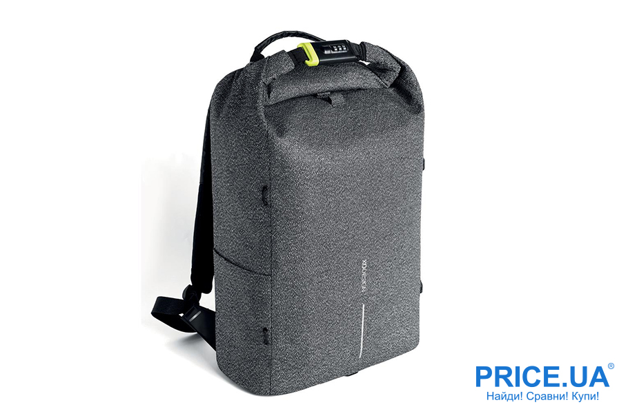 "Канцелярские штуки для учебы. Рюкзак-антивор XD Design Bobby 15,6"" серый"