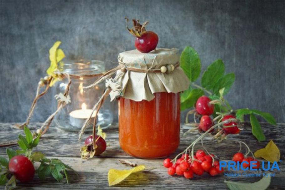 8 необычных рецептов варений.  Витаминный микс из шиповника и рябины