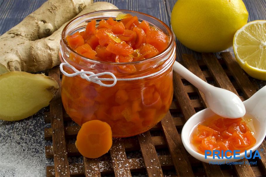 8 необычных рецептов варений.  Морковное варенье