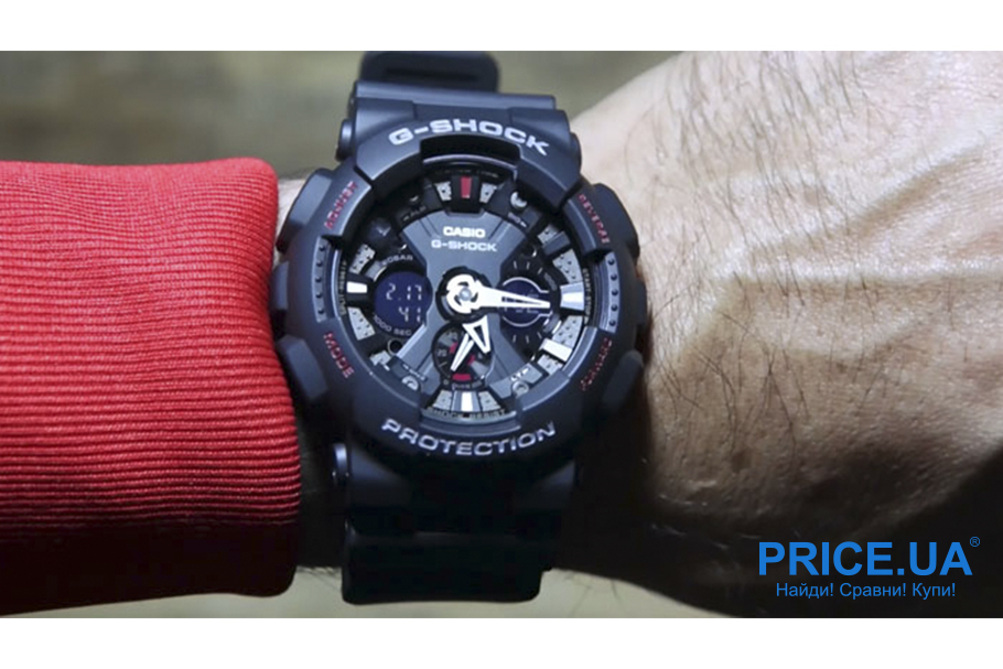 Какие часы G-Shock выбрать?G-Shock GA-120-1A